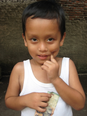 A little boy from the Compassion project