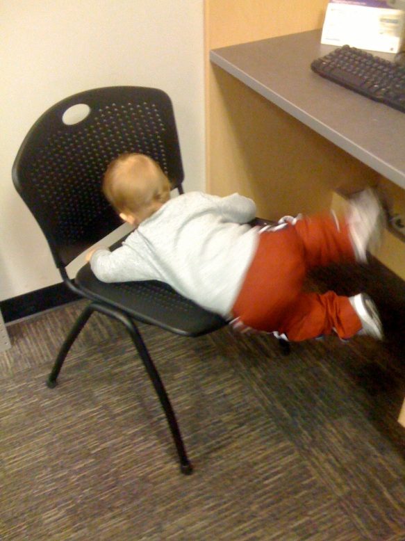 climbing-a-chair