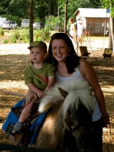my first pony ride!