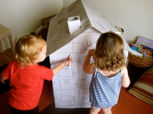 Coloring the play house (Party activity!)
