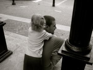 Nash and Dad at the UGA arches...